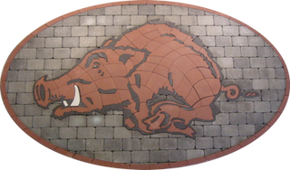 Arkansas University Paver Logo