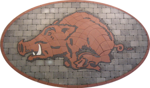 Arkansas University Paver Logo