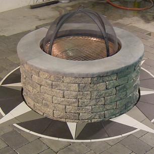 Firepit Ring Compass Rose - SKU:  FPR 002