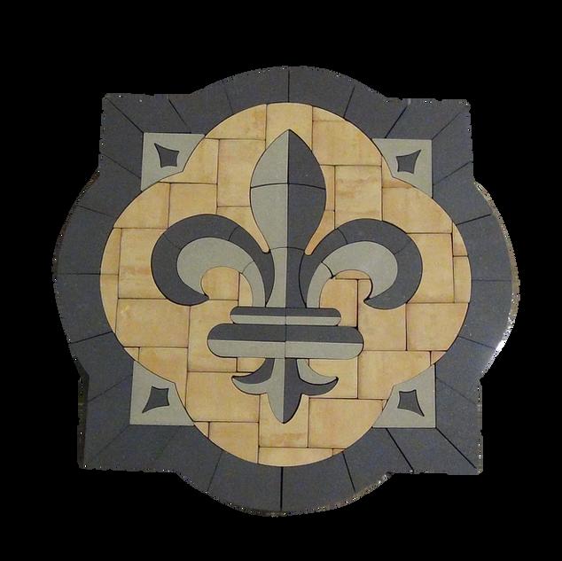 Acanthus Fleur-De-Lis - SKU: ELCANF01