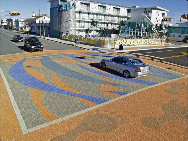Wildwood PAVERART Wave Streetscape