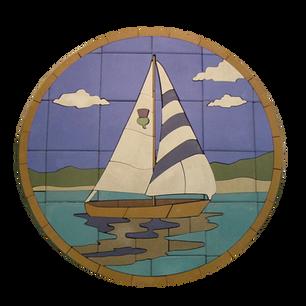 Sailboat On Lake #2 - SKU: SABFC003