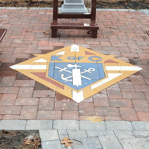 Non Profit collection of custom hardscaping inlays and medallions by Paverart