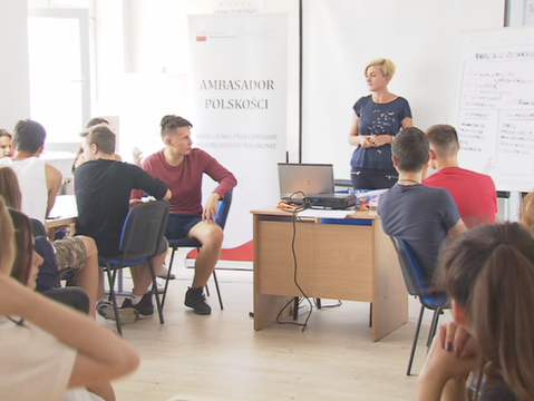 """Podsekretarz PSM Olivia Żebrowski na obozie """"Ambasador Polskości"""" SWP"""