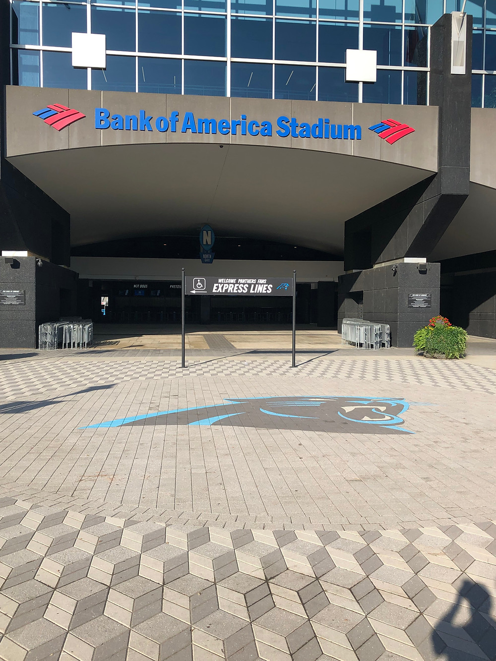 PAVERART, Carolina Panthers, Logo, Inlay, Hardscaping, Landscape Architecture, Landscape Design, Stadium Design, Logo