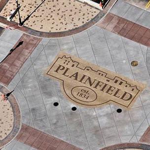 Plainfield, IL Intersection Streetscape