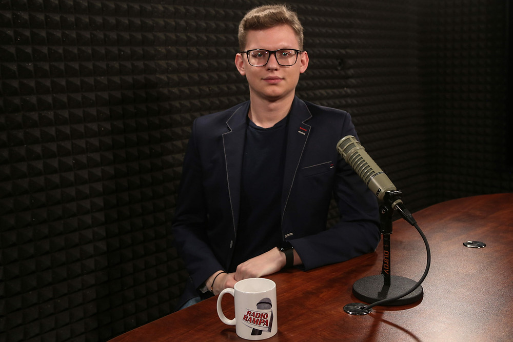 Jakub J. Staniewski, President of the Polish Youth Association at Radio RAMPA Interview
