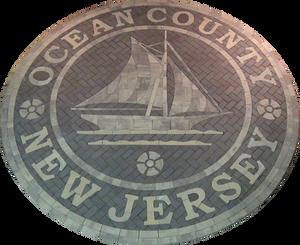 town emblem, inlay, PAVERART, custom hardscaping, medallion