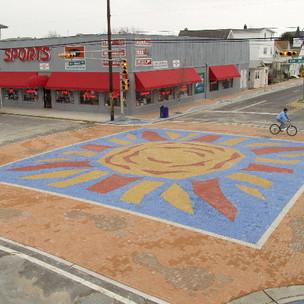 Wildwood NJ Sunburst Streetscape