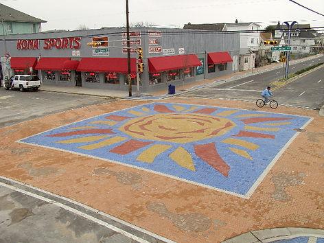 Wildwood NJ Intersection streetscape by Paverat, custom paver design