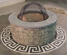 PAVERART Firepit rings add flair to firepits