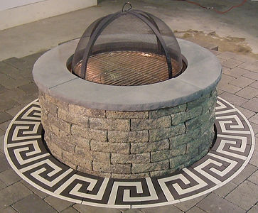 PAVERART Firepit rings add flair to basic firepits