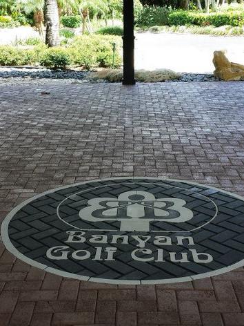 Banyan Golf Club Commercial Paver Logo