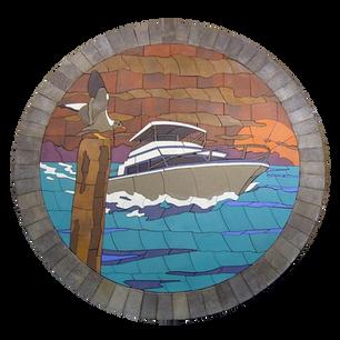 Yacht at Sunset - SKU:  YAS001