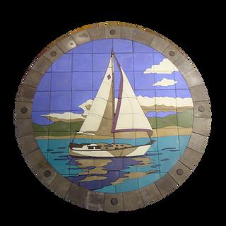 Sailboat on Lake #1 - SKU: SAB002