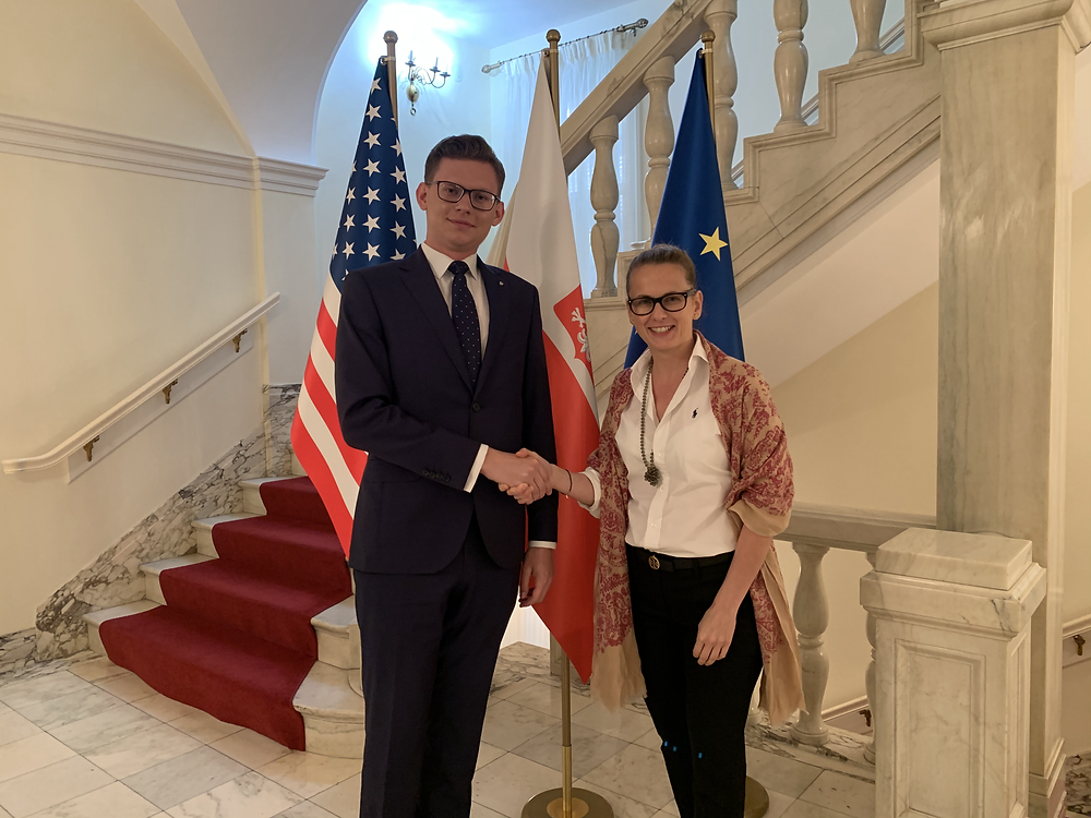 Jakub J. Staniewski, President of the Polish Youth Association at Consulate General of Poland in Chicago