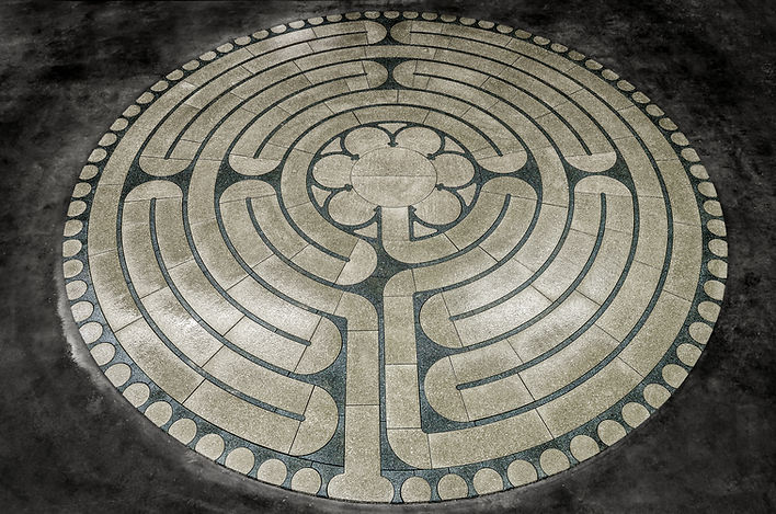 The PAVERART Exemplar Large Stone Labyrinth