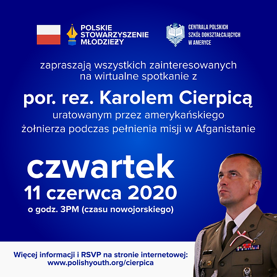 Spotkanie z por. rez. Karolem Cierpicą