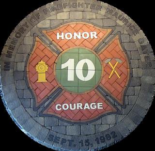 Firefighter Memorial Maltese Cross