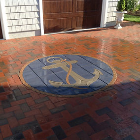 PAVERART Nautical Inlay Series For Outdoor Living Areas