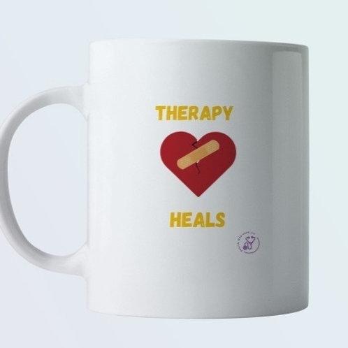 Therapy Heals   Ceramic Mug