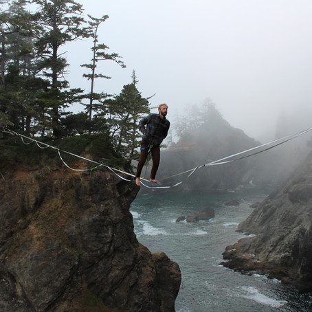 Highlining Boardman Natural Bridges in Oregon, A Photo Journal