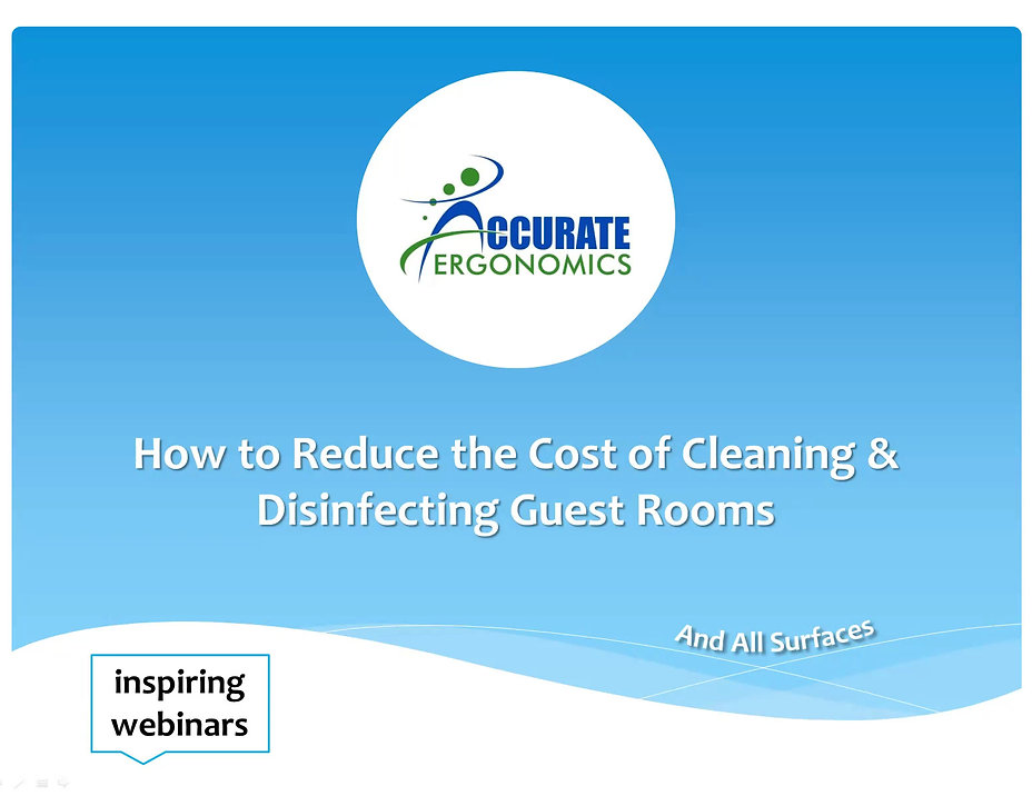 How to reduce the cost of cleaning and disinfecting hotel guest rooms.