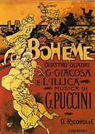Antique La Boheme poster