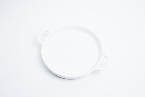 จานกลม / 16.5 cm / rim 2.5 cm. / White