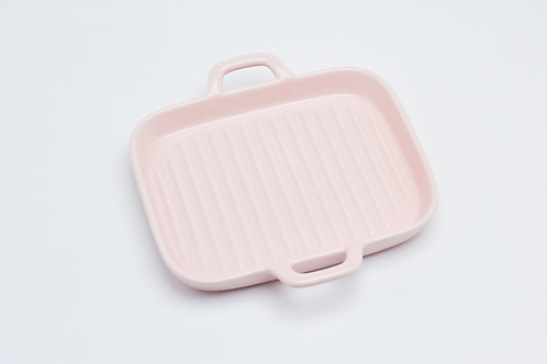 จาน 4 เหลี่ยม /  9.5*19*3 cm. / Pink