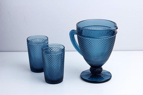 Set 1Jar+2 cups / Blue
