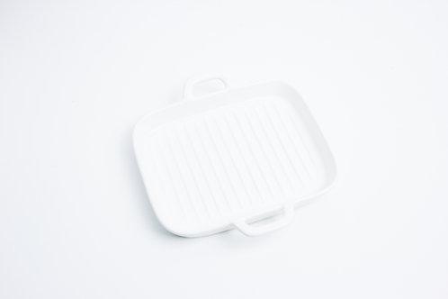 จาน 4 เหลี่ยม /  9.5*19*3 cm. / White