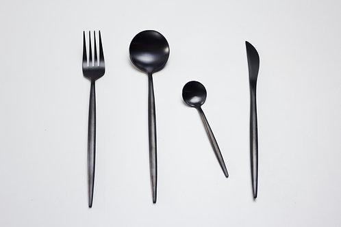 Cutlery set 4 pcs. / black