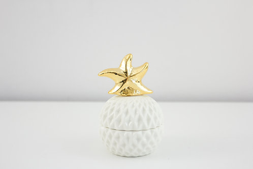 Jewelry box / starfish / white
