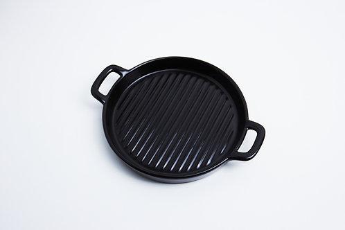 จานกลม / 16.5 cm / rim 2.5 cm. / Black