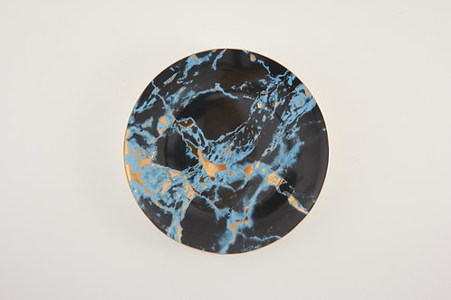 """Marble plate / navy blue / size 10"""""""