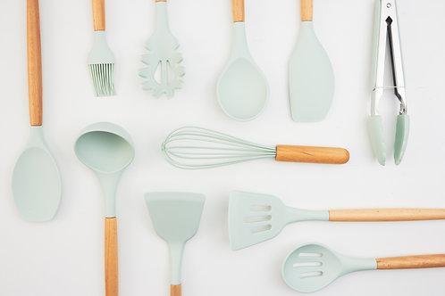 cooking utensil set / 12 pcs. / mint