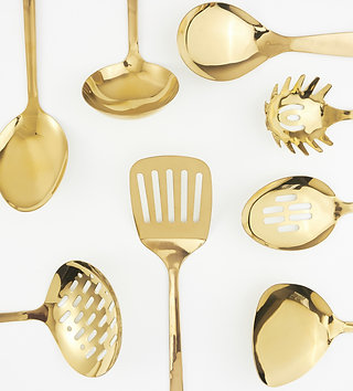 cooking utensil / gold