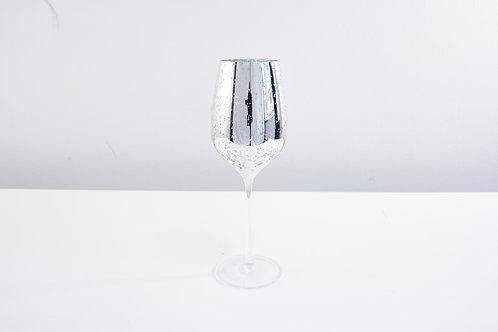 Stardust wine glass / silver