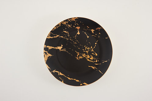 """Marble plate / black / size 8"""""""