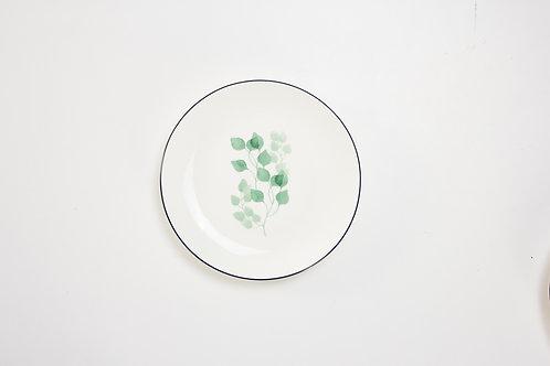 จานกลม /สีขาว / 20.7 ซ.ม./ #8 ลายเดฟ