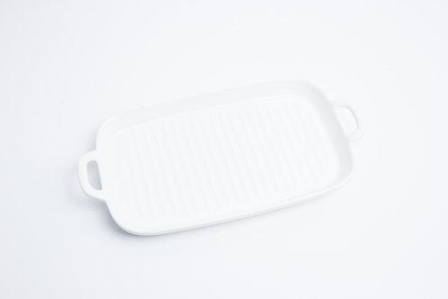 จาน 4 เหลี่ยมผืนผ้า / 15*25*2.5 cm. / White
