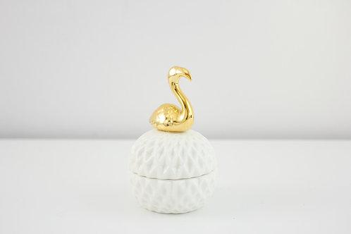 Jewelry box / Flamingo / white
