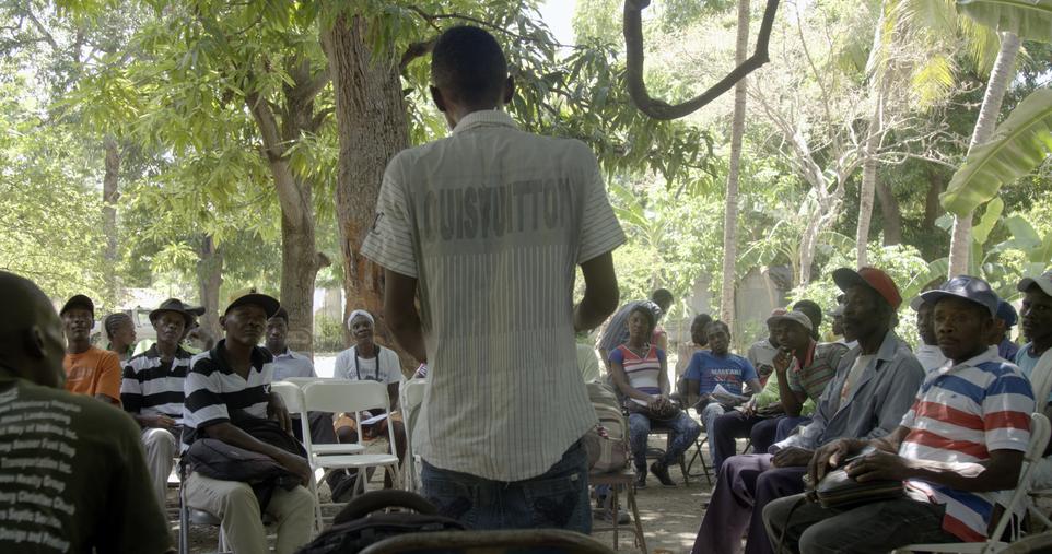 Andre speaks to Organization of Landless Peasants
