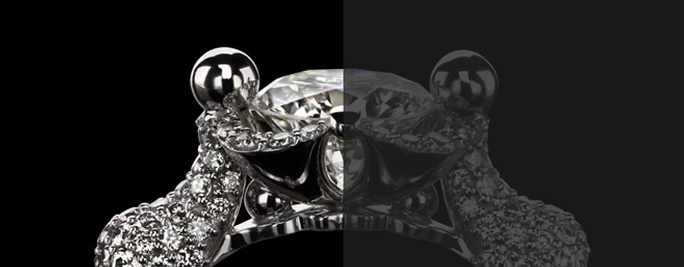 Кольцо из белого золота с бриллиантами от Hako HamHov