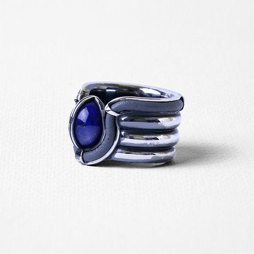 Широкое кольцо OCULUS с лазуритом