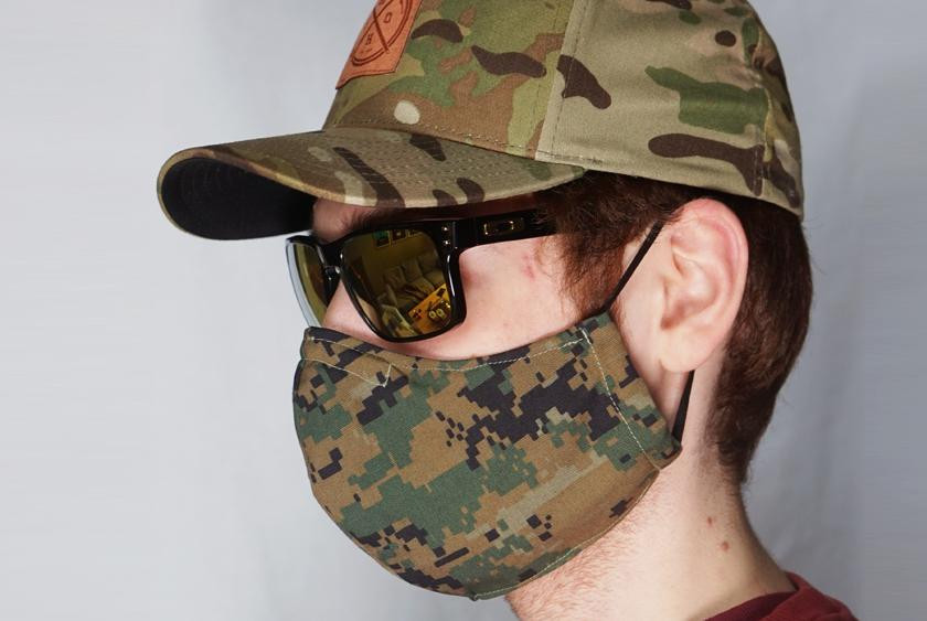 Blackline Simulations - Blog - Tactical face masks covid-19 face covering camouflage balaclava respirator hike your own hike HYOH woodland Marpat