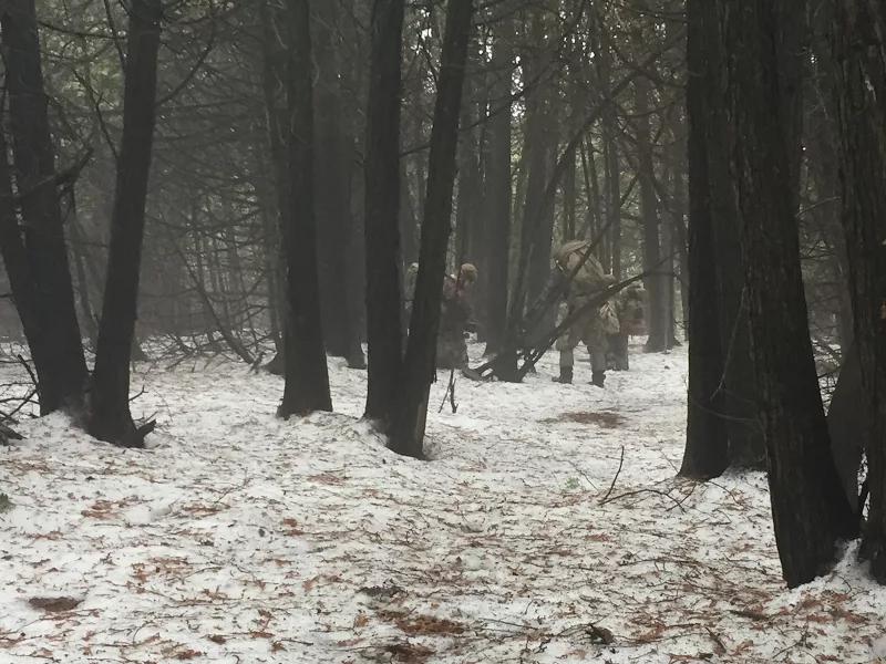 Blackline Simulations airsoft milsim Ontario Canada snow forest operations
