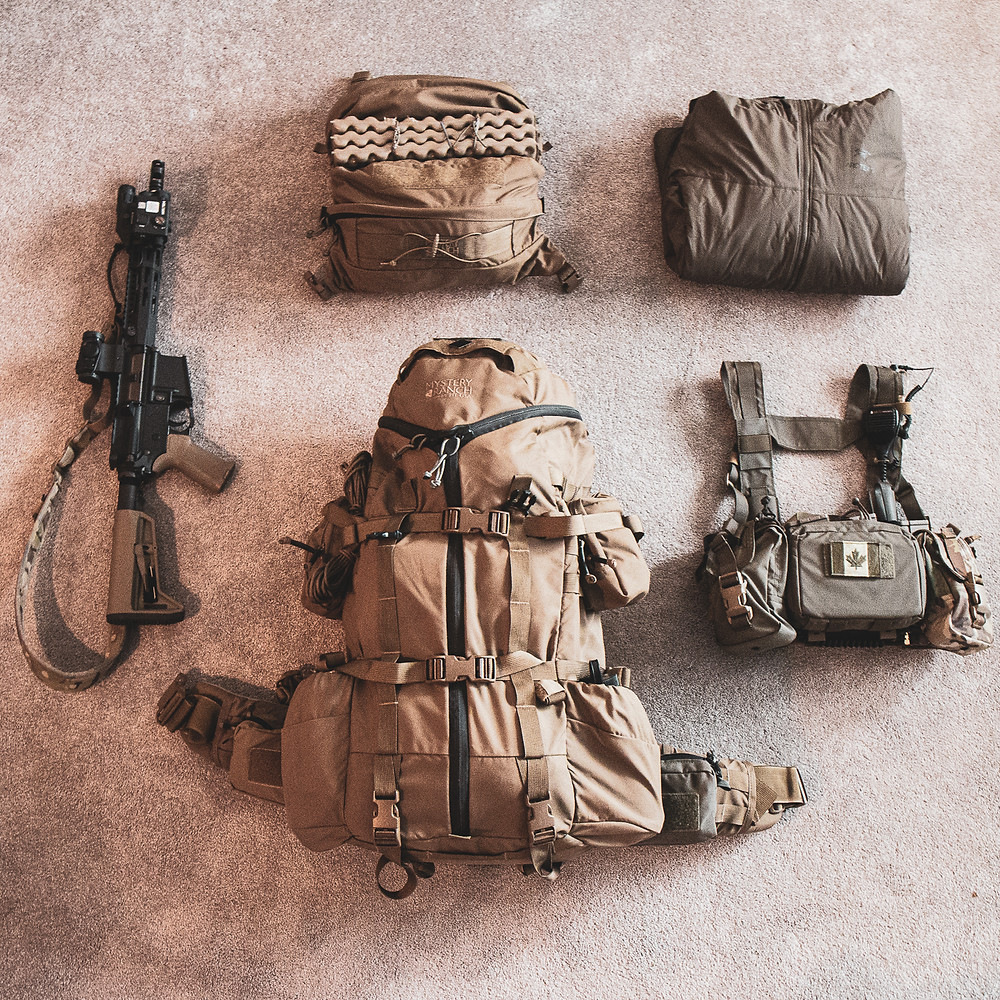 Mystery Ranch Overload and Fighting Equipment