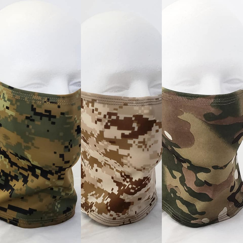 Fortyone Tactical Neck Gaiter Blackline Simulations - Blog - Tactical face masks covid-19 face covering camouflage balaclava respirator Marpat desert woodland multicam